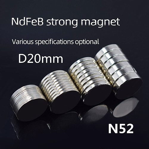 10/20pcs Neodymium magnet  Rare Earth small Strong Round permanent fridge Electromagnet NdFeB nickle magnetic sheet