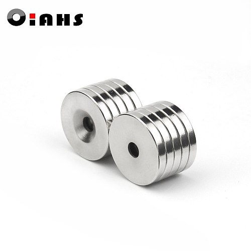 5pcs 20 x 3 mm Hole: 5mm super Strong Round Neodymium Countersunk Ring Magnets Rare Earth N50 Free Shipping