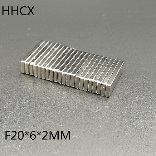 20pcs/lot F 20x6x2  N35 Magnet 20*6*2 Magnets 20 x 6 x 2