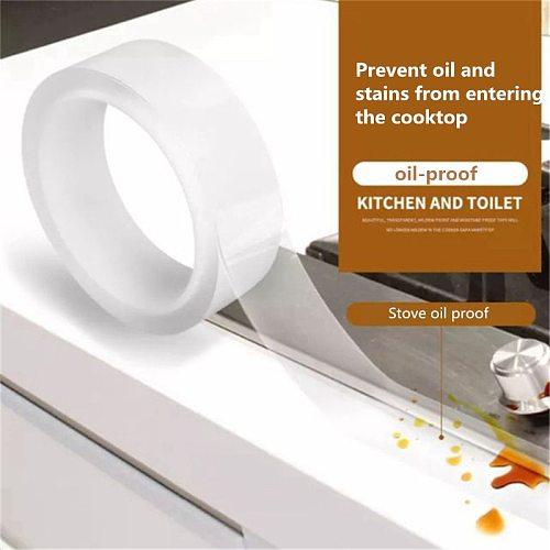 Kitchen Sink Waterproof Mildew Strong Self-adhesive Transparent Tape Bathroom Bathroom Gap Strip Pool Water Seal 0.8mm