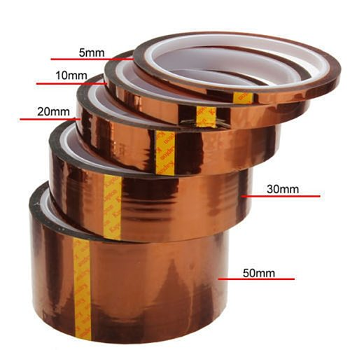 3/6/5/10/20/30/50mm Kaptons Tape 33M 100ft Heat Resistant High Temperature Polyimide Adhesive Tape Insulation For Electronic J50