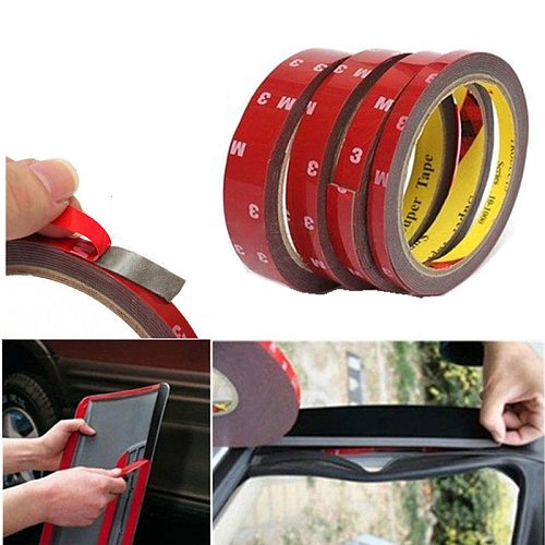 6/10/15/20mm Car Special Double sided Tape 2M Black Strong Adhesive Tape Sticker For Phone Lcd Pannel Screen Repair Accessories