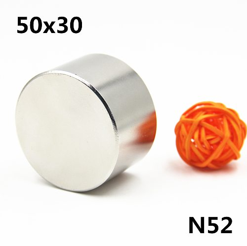 Strong Magnet 1pc/lot N52 50x30mm hot round Strong magnet Rare Earth N35 N40 D40-50mm Neodymium Magnet powerful permanent magne