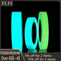 Reflective Glow Tape Self-adhesive Sticker Removable Luminous Tape Fluorescent Glowing Dark Striking Night Warning Luminous Tape