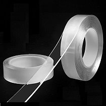 1/2/3/5m Reusable Double-Sided Adhesive Multipurpose Nano-Adhesive Tape No Trace Washed Magic Glue Loop Disks Tie Glue