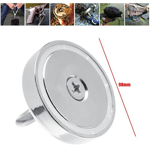 400KG Super Strong Magnet Salvage Pot Fishing Hook Magnets Deep Sea Holder Pot Magnet Permanent Powerful Magnetic With 20m Rope