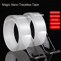 1/2/3/5m Magic Tape Double-Sided Adhesive Tape Traceless Waterproof Scotch Tape For Bathroom Kitchen Sink Tap Gel Sticker
