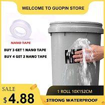 (Buy 3 get 1 Nano tape) Super Strong Waterproof Stop Leaks Seal Repair Wate Pipe Transparent Tape Self Fiber Fix Adhesive 152cm