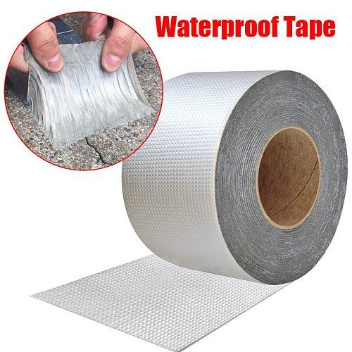 High Temperature Resistance Waterproof Tape Aluminum Foil Thicken Butyl Tape Wall Crack Roof Duct Repair Adhesive Tape