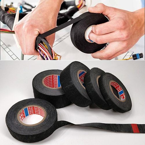15m Electrical Insulation Tape 9/15/19/25/32 Width Heat-resistant Looms Wiring Harness Tape PET Bundle Flame Retardant Tape