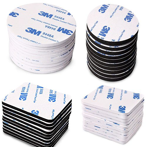 10-100pcs  Strong Pad Mounting  Tape Double Sided Adhesive Acrylic Foam Tape Two Sides Mounting Sticky Tape Black Multiple size