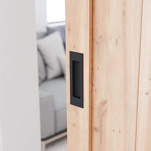 Black Aluminium alloy Barn wood sliding entry doors invisible hidden handles for interior door knobs and door Handle black