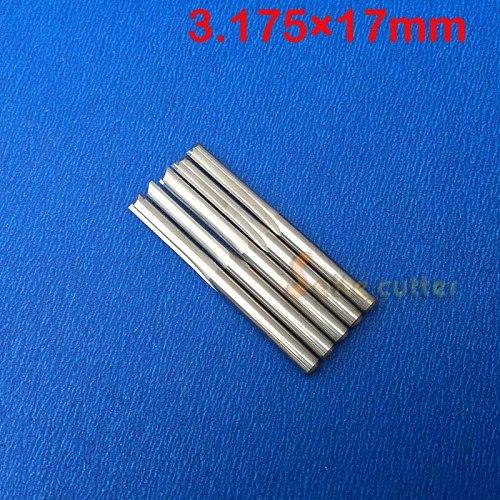 10pcs Double Flute Straight Slot Carbide Cutters CNC Router Bits 3.175 * 17mm