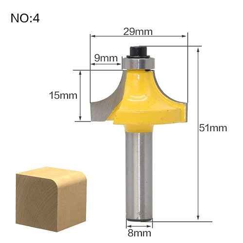 1Pc 8mm Shank Straight End Mill Cleaning Flush Trim Tenon Cutter For Woodworking Corner Round Cove Box Router Bits Top Qualuty