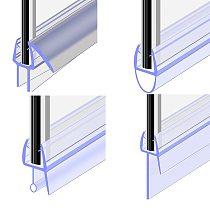 1Pcs Bath Shower Screen Door Seal Strip of 50cm 4 to 12mm Seal Gap Window Door Weatherstrip Window Glass Fixture Daily Tools