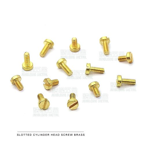 50pcs/lot Polished M1.2 M1.4 M1.6 M2 M2.5 M3 DIN84 Brass cheese head slotted screw machine screws