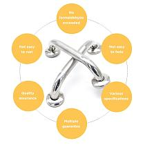 Thickened Stainless Steel Handle Safety Armrest Door Handle Shower Room Bathroom Toilet Non-slip Handle