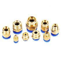 PC Pneumatic air 10mm 8mm 12mm 6mm 4mm hose 1/4  BSP 1/2  1/8  3/8  male thread air nipple brass quick coupling