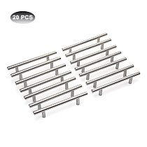 20/22Pcs Modern Furniture Handles Kitchen Cabinet T Pulls Handles knobs Stainless Steel Handles For Furniture