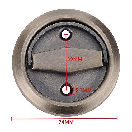 Myhomera Hidden Door Handles Stainless Steel 304 Recessed Invisible Handle Cabinet Pulls Fire Proof Door Disk Room Round Ring