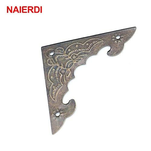 10PCS NAIERDI Decoration Corner Bracket Antique Jewelry Wooden Box Foot Leg Corner Protector Crafts Furniture Fittings Hardware