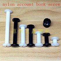 20pcs m5*6/8/10/12/15/20/25/30 white or black nylon Sex bolt chicago screw book binding post screws