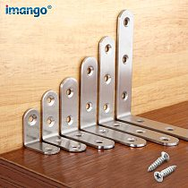 Corner Brace Stainless Steel Brackets 90 Angle Joint Fastener Shelf Support for Furniture Cabinet Screens Wall,with Screws 1 PCS