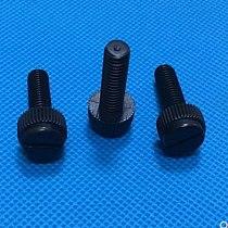 10-50pcs M3 M4 M5 M6 M8 Black Slotted Nylon Thumb Screw PA66 Nylon Plastic Hand Twist Screw Computer Hand Tighten Screws