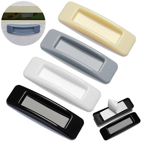 1Pair Multi-purpose Cupboard Knob Furniture Knobs Plastic Self-adhesive Door Handles Wardrobe Pulls Door Hardware Safety