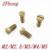 10-50PCS m1.2 m1.4 m1.6 M2 M2.5 M3 M4 M5 DIN84 Brass Slotted Cheese Head Screw Brass Screw Brass Bolt
