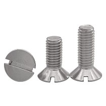 10/50pc M1.6 M2 M2.5 M3 M4 M5 M6 304 A2-70 stainless steel GB68 Metric Threaded Slotted Flat Countersunk Head Machine Screw Bolt