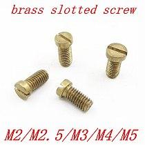 10-50PCS M2 M2.5 M3 M4 M5 DIN84 Brass Slotted Cheese Head Screw Brass Screw Brass Bolt