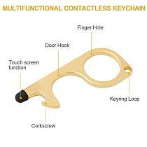 1~10pcs Anti Contact Door Opener No Touch Key Door Opener Key Chain Non-contact Door Handle Elevator Artifact Keychain Dropship