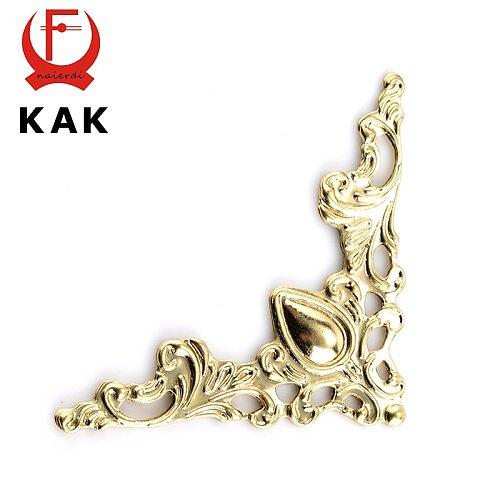 30PCS KAK Metal Angle Corner Brackets Gold Bronze 40mm Notebook Cover For Menus Photo Frame Furniture Decorative Protector