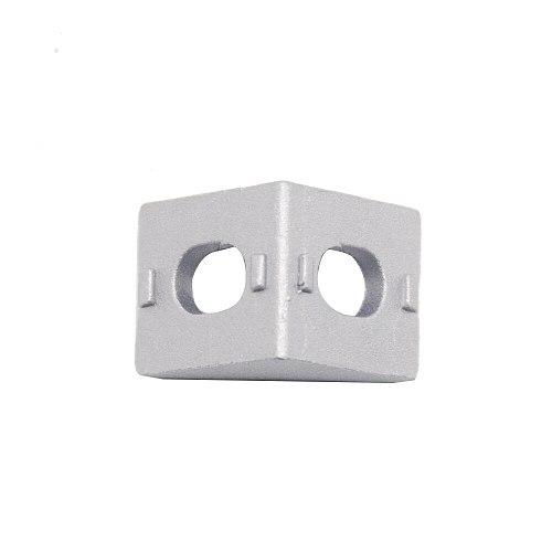HOTSale 20pcs 2020 corner fitting angle aluminum 20 x 20 L connector bracket fastener match use 2020 industrial aluminum profile