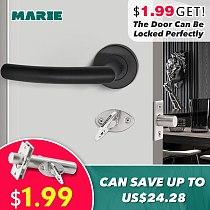LH1007 Black Color Stainless Steel Half-Dummy Door Knob For Interior Door Lever Brushed Nickel Door Handle