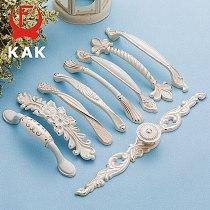 KAK Zinc Aolly Ivory White Cabinet Handles Kitchen Cupboard Door Pulls Drawer Knobs European Fashion Furniture Handle Hardware