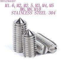 M1.6M2M2.5M3M4M5M6M8M10stainless steel 304 slotted point head set screws nonehead headless grub screw1151