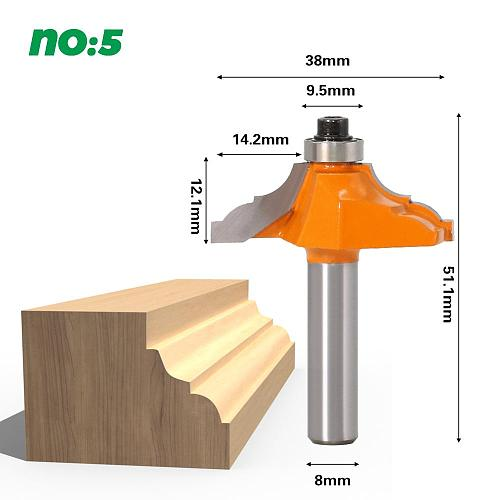 1/4  Traditional Ogee Edge Forming Router Bit - 8mm Shank Woodworking knife line