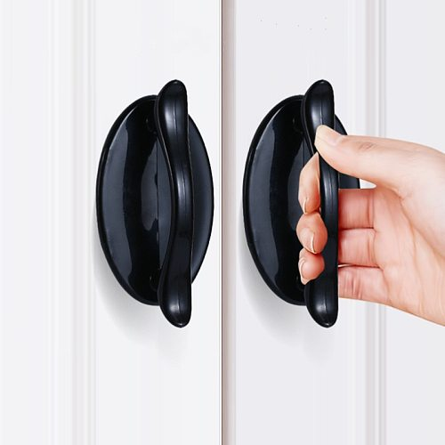 1pcs Modern minimalist handle Door and Window Adhesive Auxiliary Handle Kitchen Cupboard Door Pulls Drawer Knobs Home Decoration