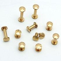 50pcs/lot 5/6/8/10/12/15/18/20mm Solid Brass Chicago Screw Nail Stud Rivet Gold Strap Fastener Assembling Bolt suitcase Hardware