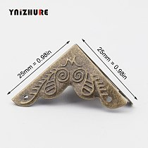 YNIZHURE 10PCS Luggage Case Box Corners Brackets Decorative Corner For Furniture Decorative Triangle Rattan Carved