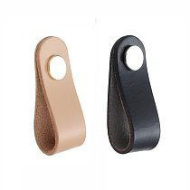 Soft PU Leather Cabinet Handle Drawer Door Puller Drawer Pull Wardrobe Door Knobs with Screws for Study Room Handles Furniture