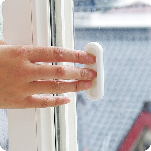 eTya 4pcs Paste the open sliding door handles for interior doors glass window cabinet drawer wardrobe Self-adhesive Handle
