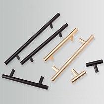 Black Golden Cupboard Handle Brushed Stainless Steel Kitchen Cabinet Door Knob Furniture Drawer Pull  Hardware Pulls  Bar Handle