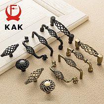 KAK Vintage Antique Bronze Cabinet Handles Hollow Out Birdcage Handles Drawer Knobs Wardrobe Door Pullers Furniture Handle