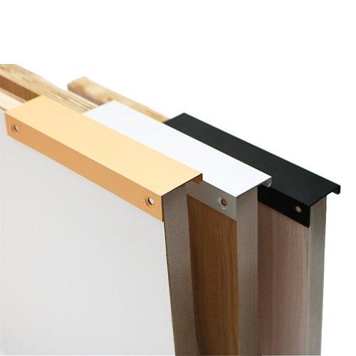Cabinet Pulls Drawer Knobs  Black Silver Orange Gold Hidden  Handles Stainless steel  Kitchen Cupboard Furniture Hardware