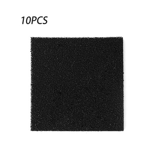 10pcs High Density Activated Carbon Foam Black Filter Solder Smoke Absorber ESD Fume Extractor 13cm for Air Filtration Tools
