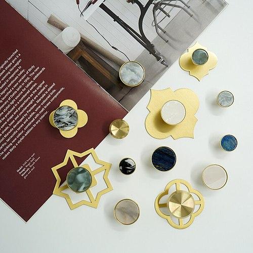 Marblee pattern brass knob Dresser Drawer Knobs Pulls Handles / Cupboard Knobs  Furniture Cabinet Handle Pull Hardware