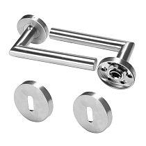 Door Handle Set Stainless Steel Lock Interior Home Door Handle Lock Durable Adjustable Latch Security WC/PZ/BB Interior
